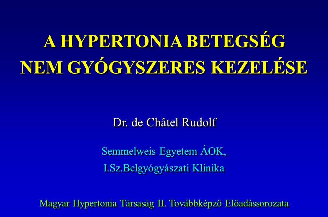 a hipertónia kezelésére szolgáló intézkedések összessége