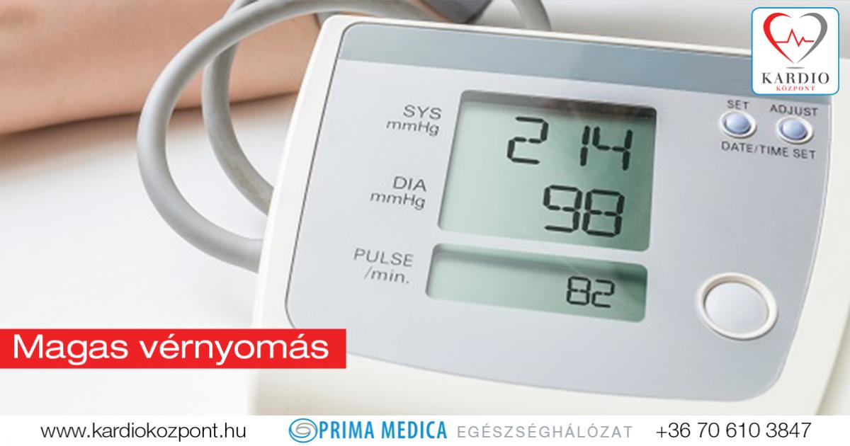 a magas vérnyomást egy nap alatt kezelik hipertónia készülék
