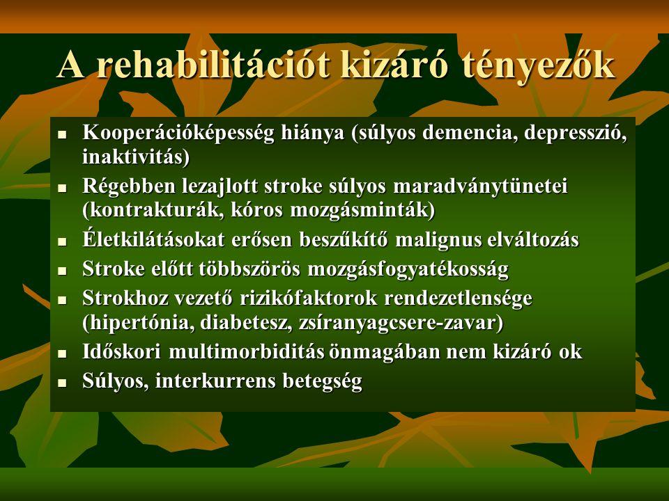 a rehabilitáció hipertóniás szakaszai