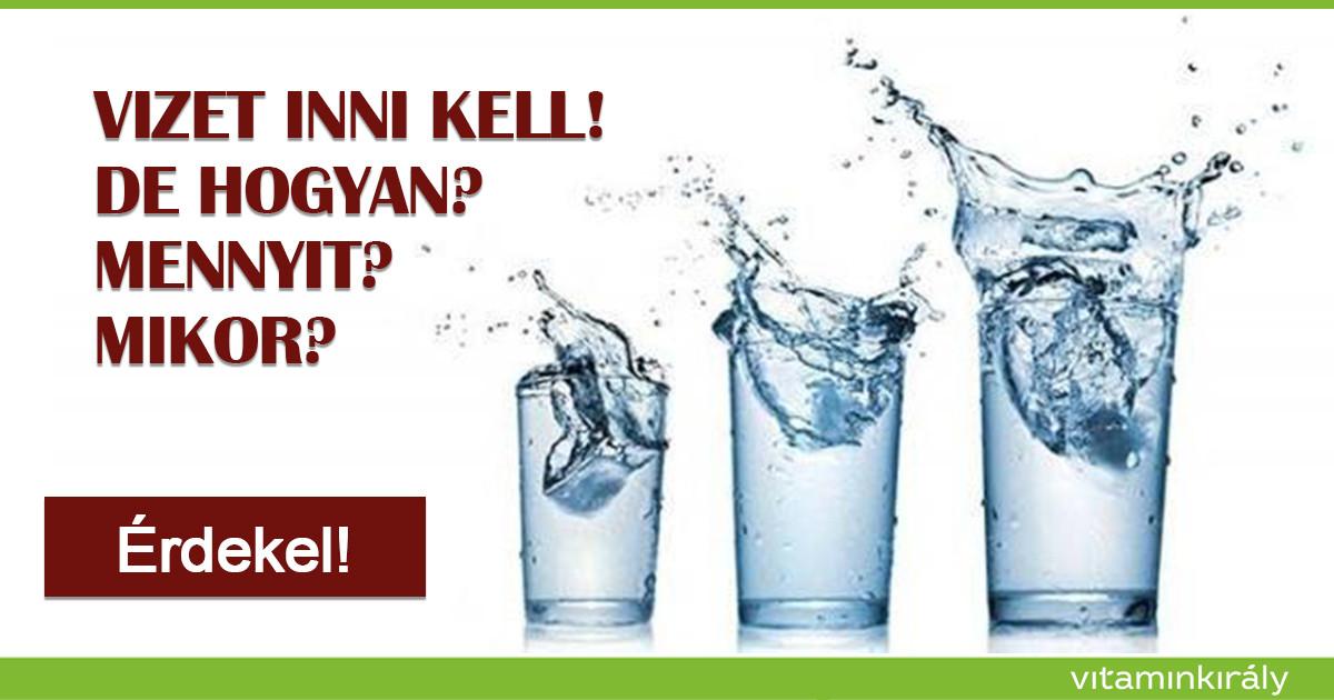 magas vérnyomás esetén vizet kell inni hipertónia forrásai