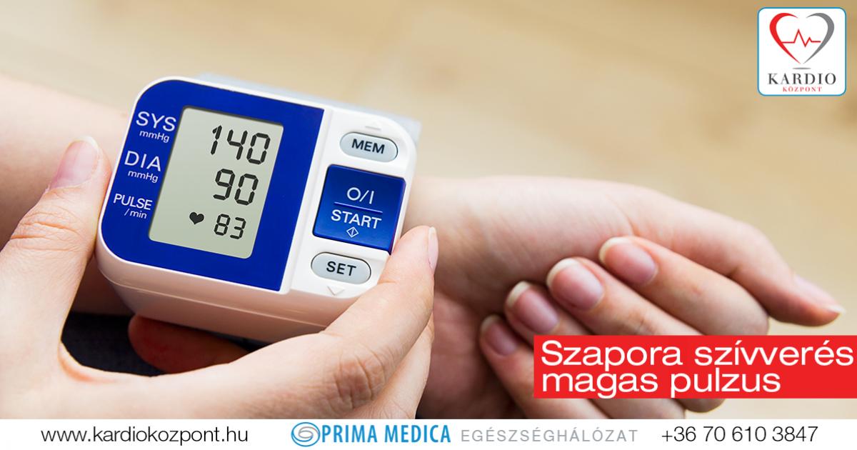 gyakori szívverés magas vérnyomással
